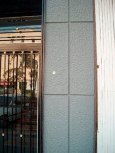 vista del cajetin de llaves en una fachada